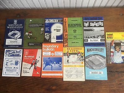 Collection of Old Programmes all from the 1960's No Writing, all Listed.