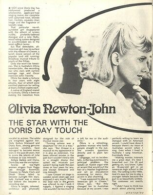 Olivia Newton John : The Star With The Doris Day Touch Article & Picture(S)