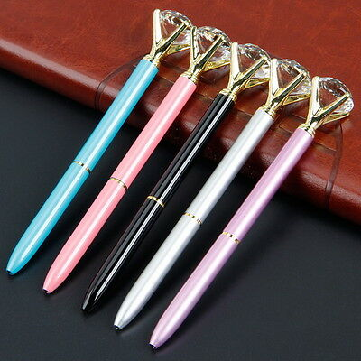 New HOT Crystal Pen Diamond student School Stationery Metal Ballpoint Pens