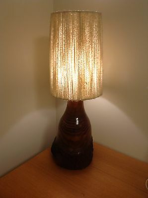 Vintage Retro Mid Century Wooden Table Lamp