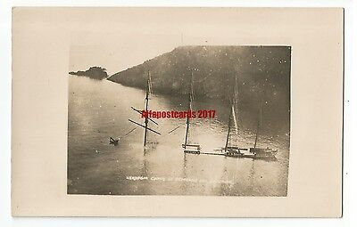 Devon Salcombe Herzogin Cecilie Real Photo Vintage Postcard 13.6