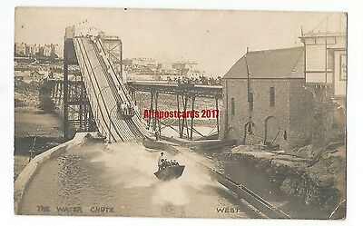 Somerset Weston Super Mare The Water Chute Real Photo Vintage Postcard 13.6