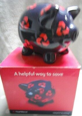 BOXED COLLECTABLE PORCELAIN NAT WEST BANK PIG PIGGY PIGGYBANK MONEYBOX not WADE