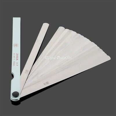Stylish Metric 0.02-1mm Feeler Gauge Gage Gap Filler Measurement Tool 17 Blades