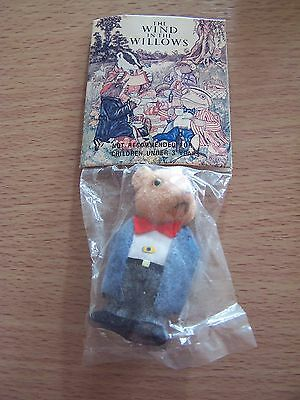 Vintage Ratty Wind in the Willows Flocked Figure 1982 Playspaces International