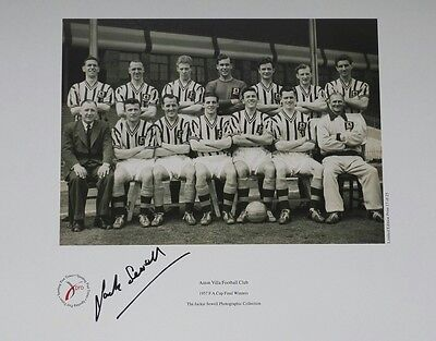 Jack Sewell - Aston Villa Signed Limited Edition Print Fa Cup Winners 1957