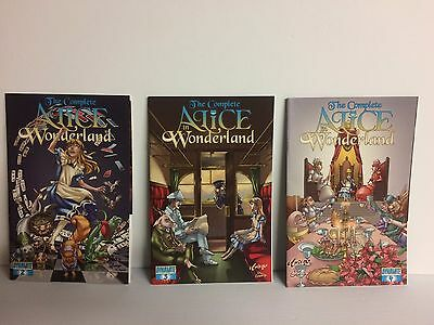 The Complete Alice in Wonderland comics 2 3 4 2010 Dynamite Entertainment