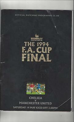 Chelsea v Manchester United FA Cup Final 1994 Football Programme