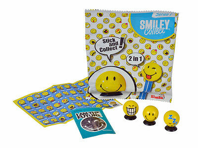 Smiley Collect Serie I Smilies mit Saugnapf Sticker und Booklet