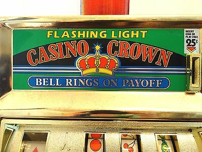 Vintage Waco Slot Quarter Casino Crown  Slot Machine Ringing Light 10x17""