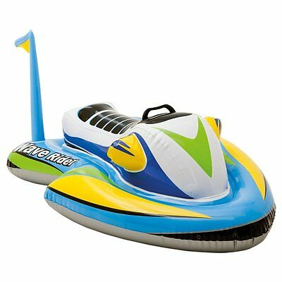 Water Motorcycle Inflatable Beach Toy Ride On Kids Fun Summer Outdoors Pool Game