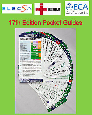 NICEIC Pocket Guides - 39 Handy Guide Cards 17th EDITION BS7671 Amendment 3 NEW