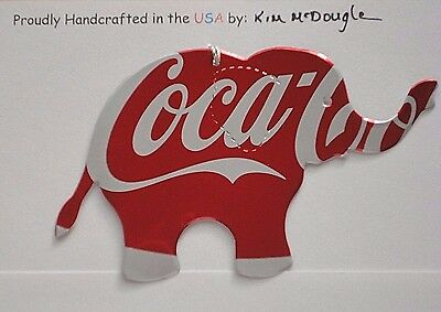 Elephant Handmade Christmas Ornament Recycled Aluminum Metal C Cola Soda Can