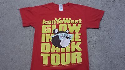2007 Kanye West T Shirt Concert Size Small S Glow In The Dark Tour Red Tshirt