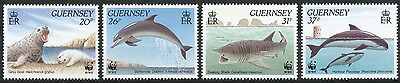 Great Britain, Guernsey MNH Stamps, Scott 441-444 or SG 501-504, Marine life