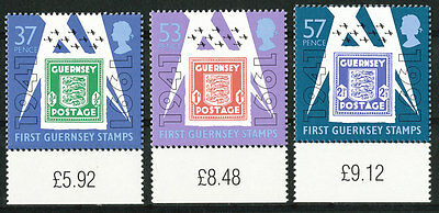 Great Britain, Guernsey MNH Stamps, Scott 446-448 or SG 517-519 50th Anniversary