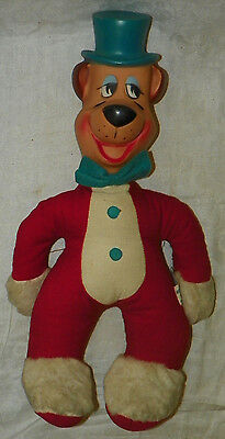 Vintage c.1959 Huckleberry Hound Hanna-Barbera Kinckerbocker Plush Doll Old Toy