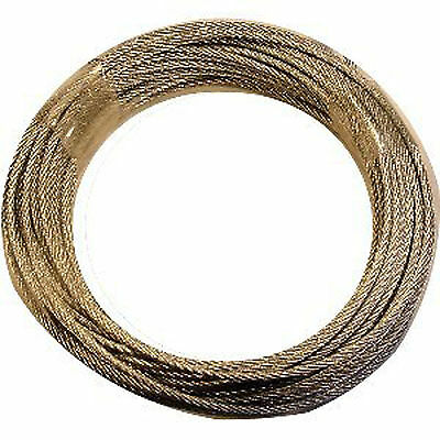 GALVANISED WIRE FOR LONGCASE CLOCK: 5ft x 1.25mm - Flexible strong 7x7 stranding