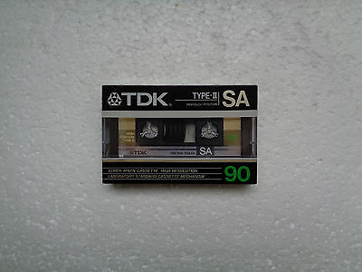 Vintage Audio Cassette TDK SA 90 * Rare Europe Version 1986 *