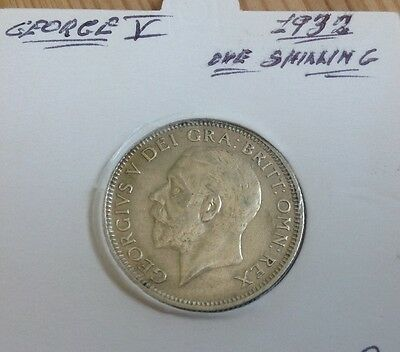 George V. One Shilling Silver 1932