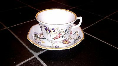 Rare Wedgwood Devon Rose Georgetown Collection Large Breakfast Tea cup & saucer