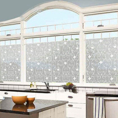 Bathroom Etched Glass Window Film Stained Paper PVC Decor Privacy Stickers