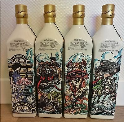 Johnnie Walker - Blue Label - 4 Striding City/Cities - Mixed Lot - Rare!