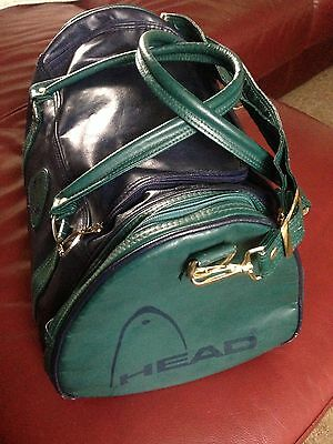 Retro Vintage Head Sports Gym Bag - Navy and Green