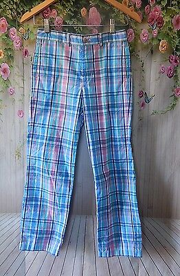Girls Vineyard Vines Striped Pastel Colors Light Summer Casual Pants SZ 12