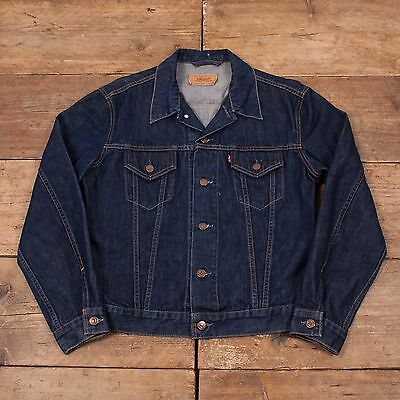 Girls Vintage Levis Red Tab Dark Blue Denim Trucker Jacket Levi Strauss XL R5760