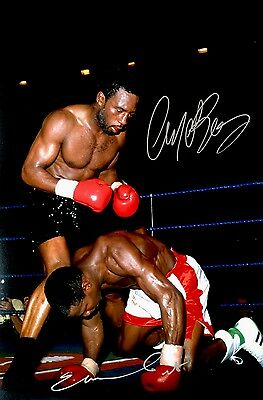 Boxing Middleweight Benn & Eubank Original Hand Signed Photo 12x8 With COA