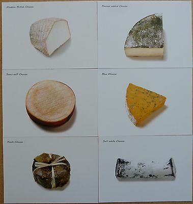 6 Postcards of specialist British Cheeses.