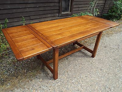 Brights of Nettlebed Oak Extending Refectory Dining Table