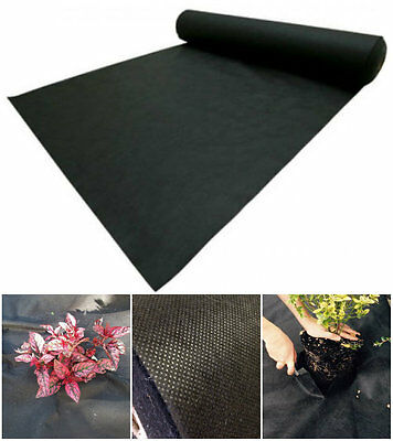 Heavy Duty Weed Control Woven Fabric Ground Cover Mulch Membrane Mat 20m x 2m