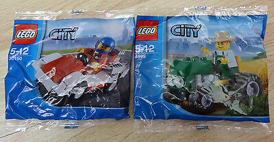 Lego 4899 & 30150 - Lego City -  Brand new poly bags