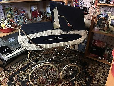 Vintage Baby Carriage Buggy Pram Peg Perego Made In Germany