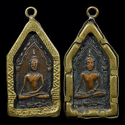 Rare Year 1964 Mini Phra Khun Paen Two Face LP Tae Wat Sam Ngam Kumanthong Old