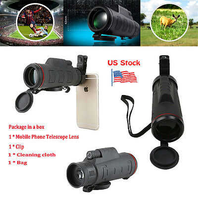 Clip-on 35 X 50 Optical HD Zoom Telescope Camera Lens For Universal Mobile Phone