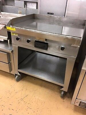 Hobart CG56 36'' Griddle Electric Flat Top Grill Plancha w/ Stand Commercial