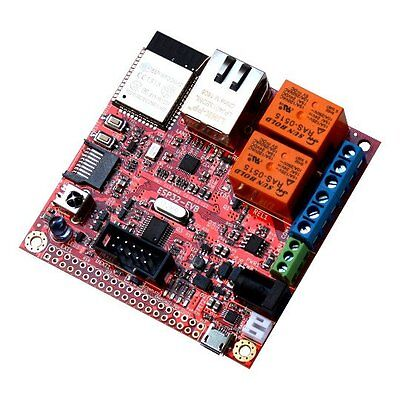 Olimex ESP32-EVB for Espressif ESP32 wired ethernet CAN relays microsd infrared