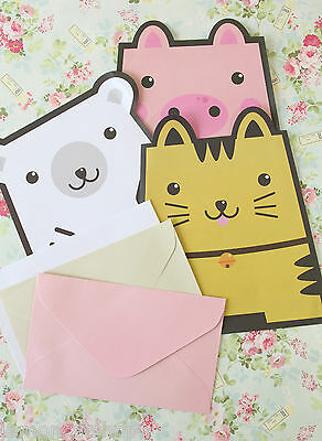 Cute Animals Note Paper letter set kawaii cartoon stationery paper & envelopes