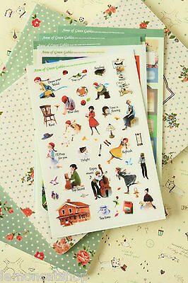 Anne of Green Gables Stickers Classic Story Series cute cartoon planner sticker