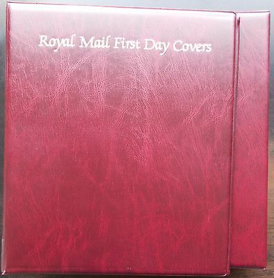 Royal Mail First Day Cover Album with slipcase & 18 leaves. Very good condition.