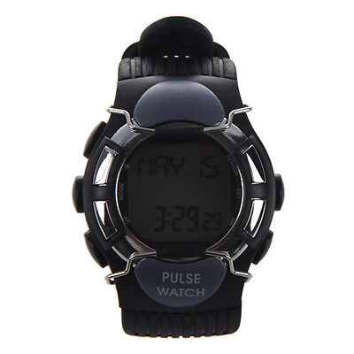Sport Pulse Heart Rate Calorie Counter Watch with Monitor Black K2V1