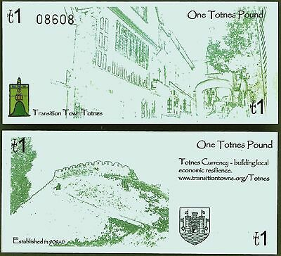 Englan / Totnes - The rather plain 3rd version, Local Pound Banknote, now scarce