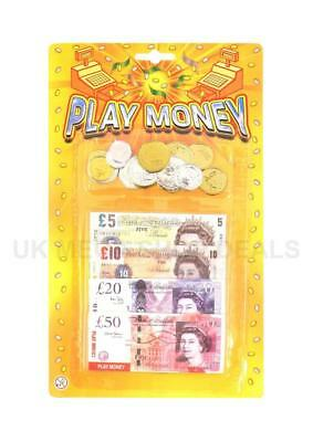 £ Play Fake Money Notes Coins Pounds Sterling Cash Shop Keeper Pretend Role Play
