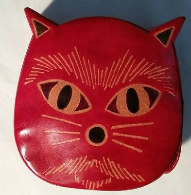 Leather Kitty Face-Shaped Bank,Made in India