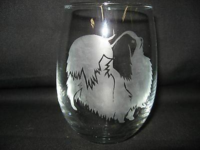 New Etched Japanese Chin Stemless Wine Glass Tumbler