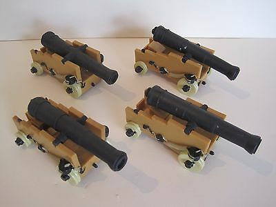 TOY PIRATE / SOLDIER PLASTIC CANNONS x4 (Like ELC Papo Schleich)