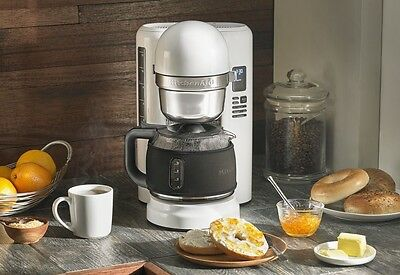 KitchenAid 12 Cup Coffee Maker with One Touch Brewing (White)
